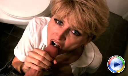 Racquel Devonshire plays naughty assistant and gives her 'boss' a special blowjob! from Racquel Devonshire