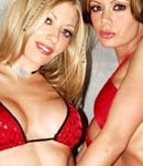Crissy Moran and her blonde girlfriend play with sex toy from Crissy Moran