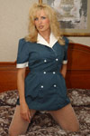 I had this waitress uniform I had saved for years incase I needed it for Halloween or something and it was perfect for what we came up with spur of the moment. from Racquel Devonshire