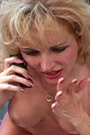 Racquel blows TJ while she lets her girlfriend listen on the phone. from Racquel Devonshire